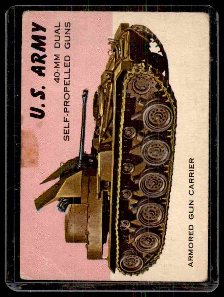 1954 World On Wheels U.S. Army #62 card front image