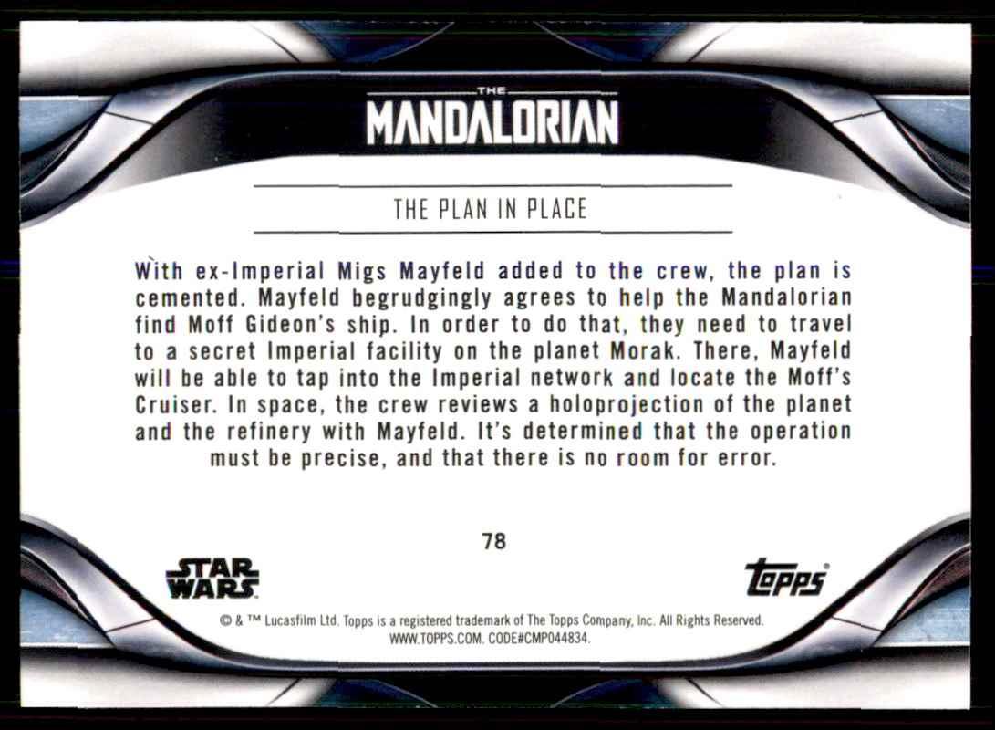2021 Topps Star Wars The Mandalorian Season 2 The Plan in ...