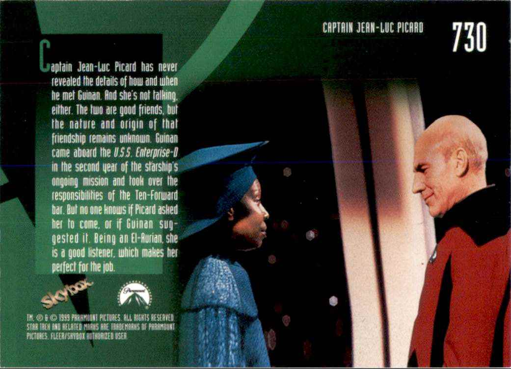 1994 Star Trek The Next Generation Episode Collection Guinan #730 card back image
