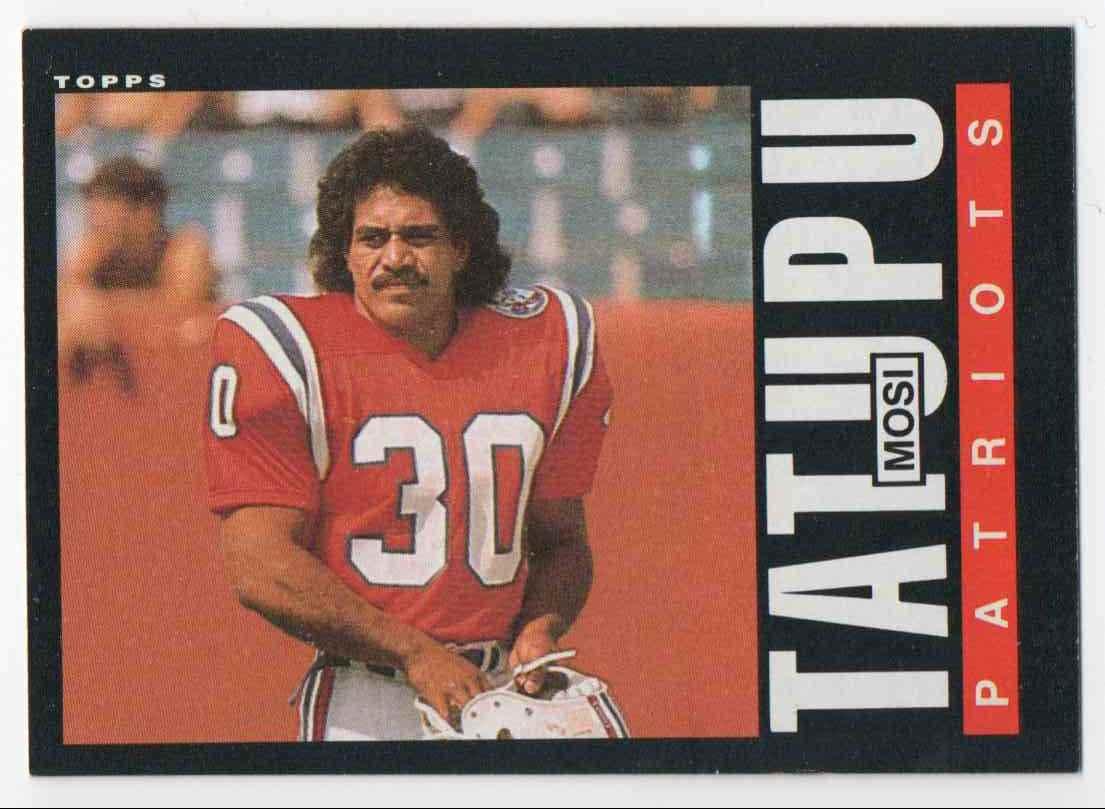 1985 Topps Mosi Tatupu #333 card front image