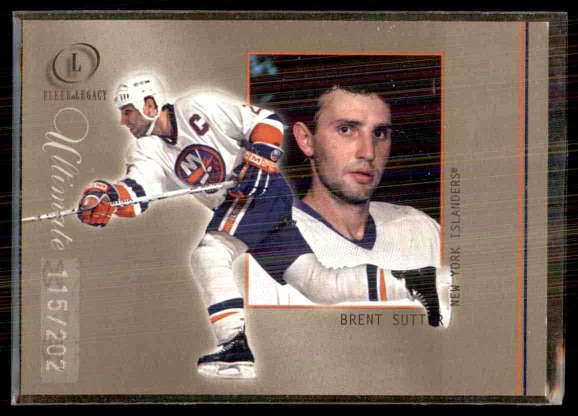 2001-02 Fleer Legacy Ultimate Brent Sutter #54 card front image