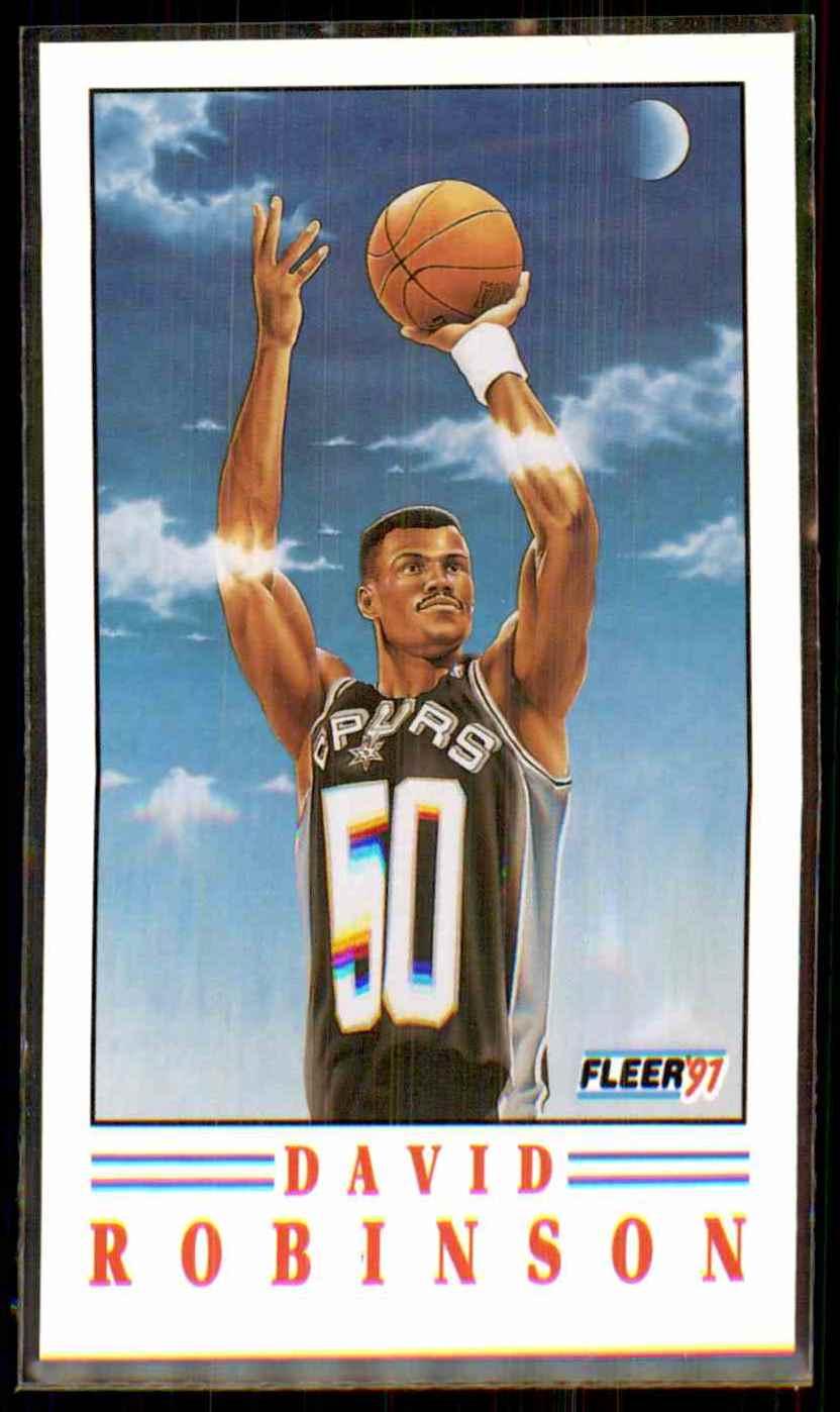 1991-92 Fleer Pro-Vision David Robinson #1 card front image