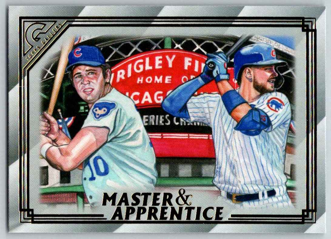 2020 Topps Gallery Master And Apprentice Ron Santo Kris Bryant #MA-10 card front image