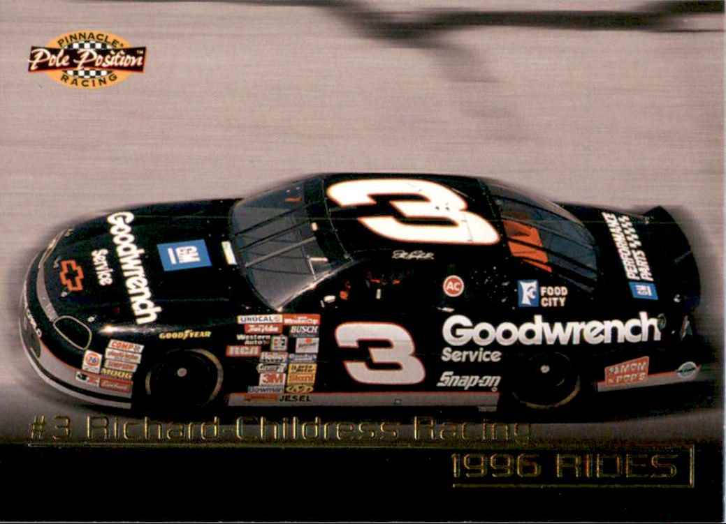 1996 Pinnacle Pole Position Dale Earnhardt's Car #27 card front image