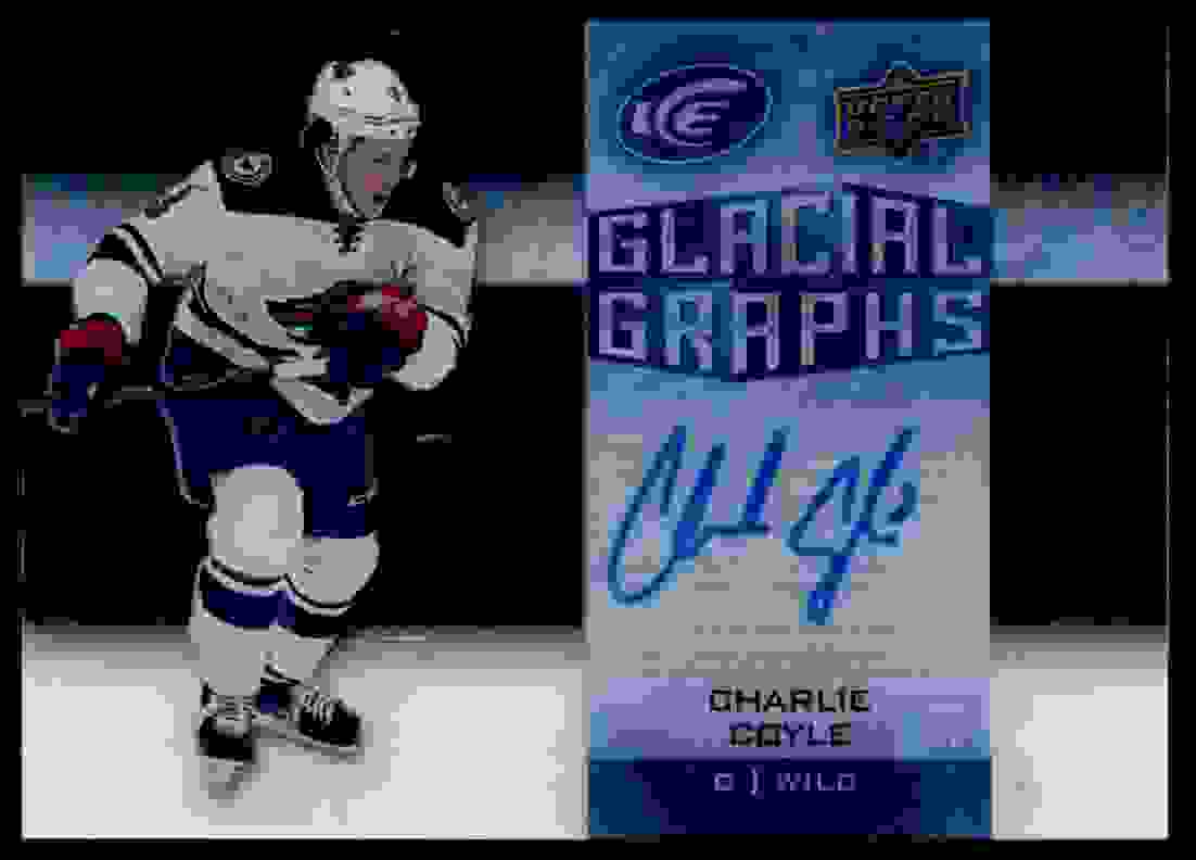 2015-16 Upper Deck Ice Glacial Graph Charlie Coyle #GG-CC card front image
