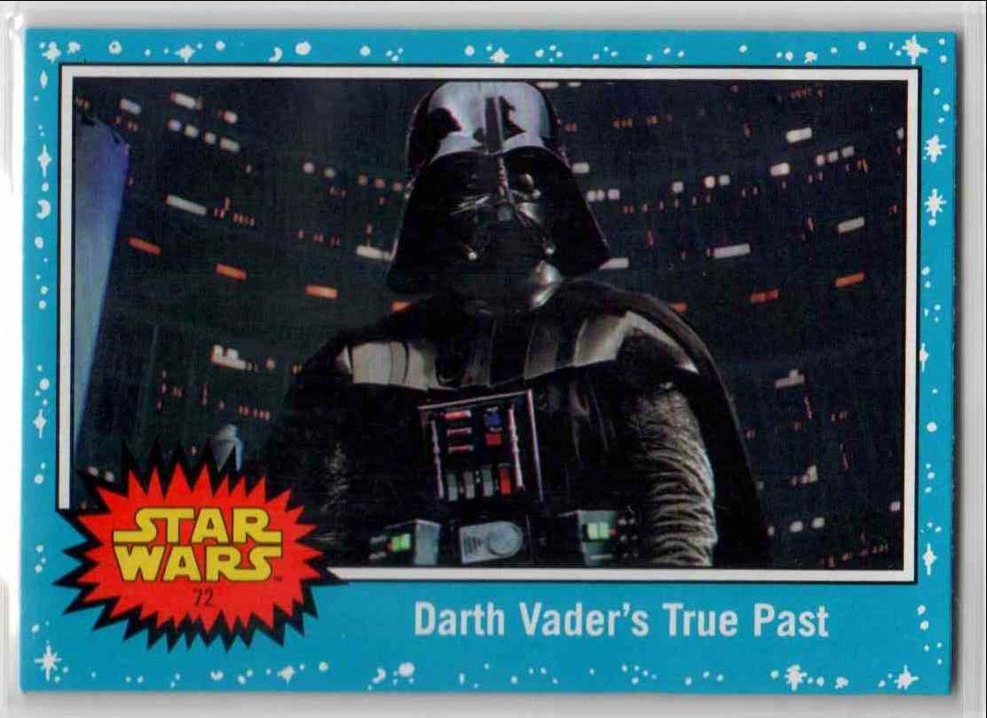 2019 Topps Star Wars Journey To Rise Of Skywalker Darth Vader's True Past #72 card front image