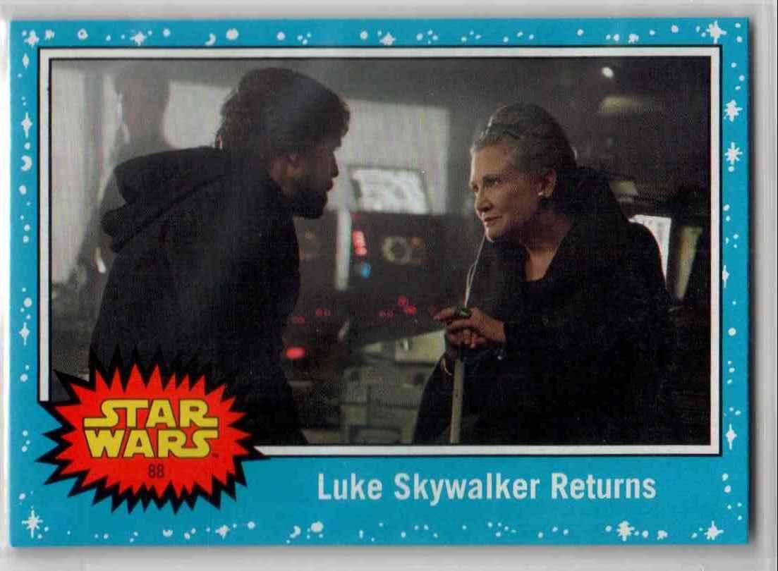 2019 Topps Star Wars Journey To Rise Of Skywalker Luke Skywalker Returns #88 card front image