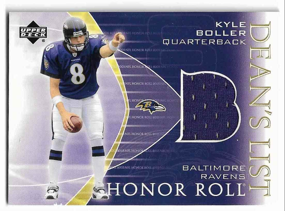2003 Upper Deck Honor Roll Kyle Boller #DL-BO card front image