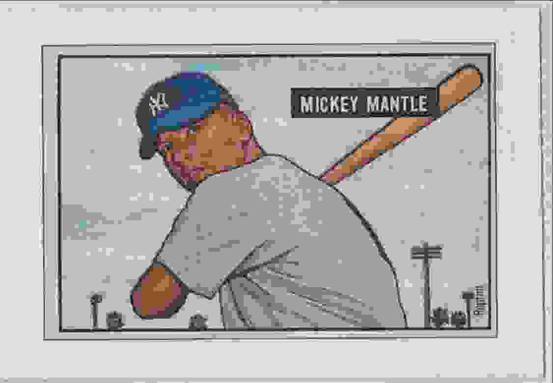 1989 Bowman Reprint Inserts Mickey Mantle #5 card front image