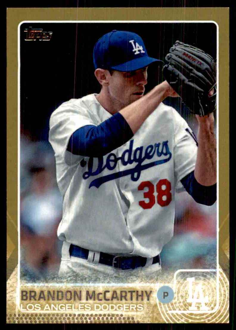2015 Topps Gold Brandon McCarthy #431 card front image