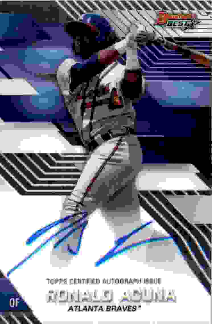 2017 Bowman's Best Ronald Acuna #B17-RA card front image