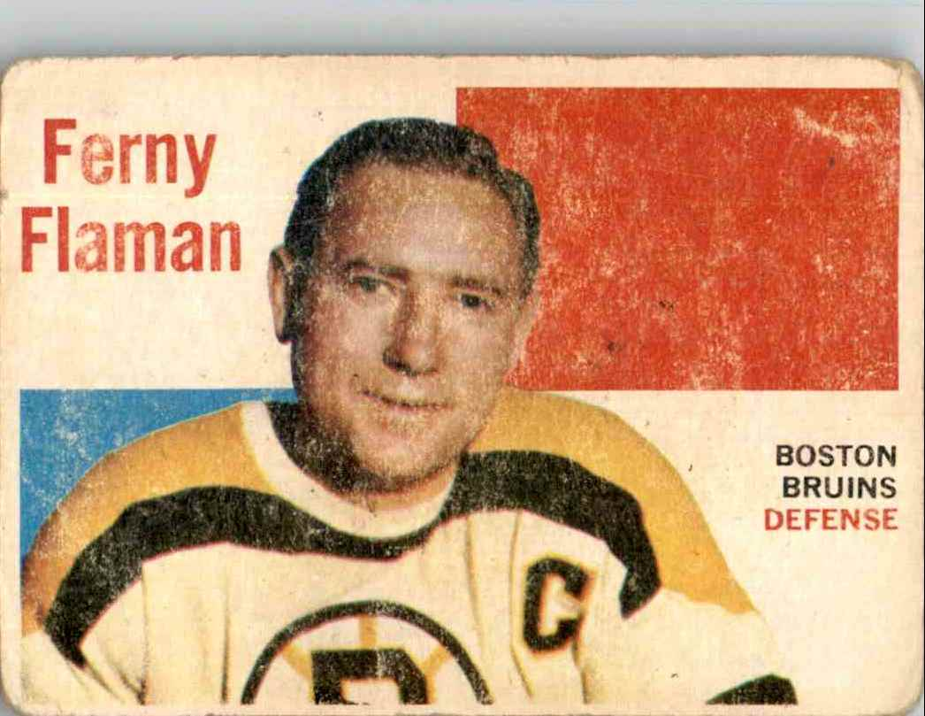 1960-61 Topps Fern Flaman #57 card front image