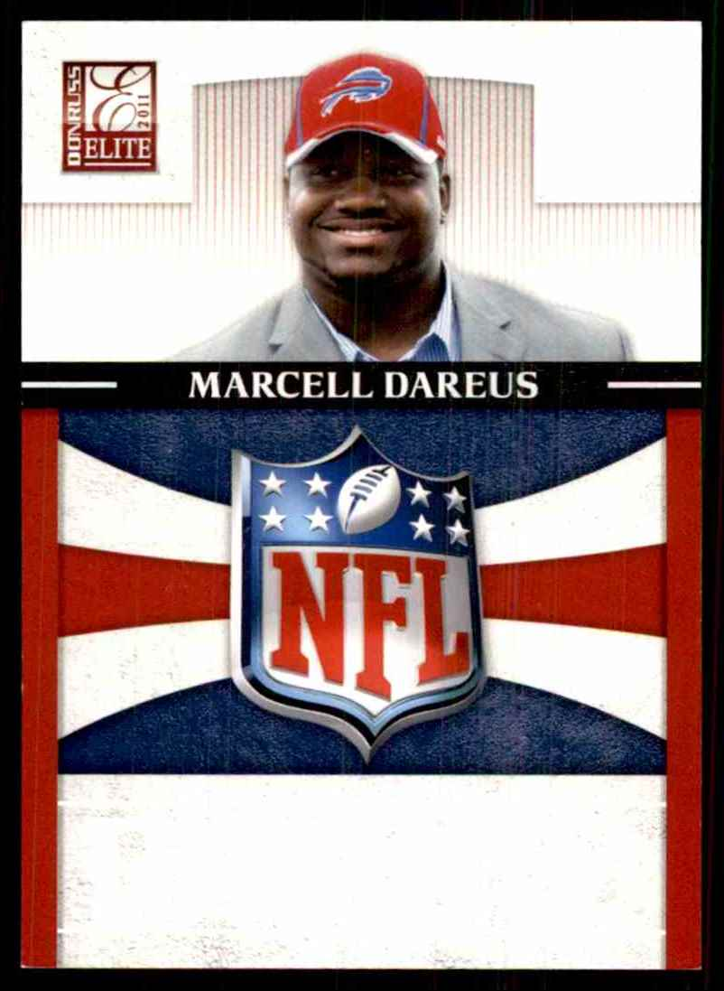 2011 Donruss Elite Rookie NFL Shield Marcell Dareus #13 card front image