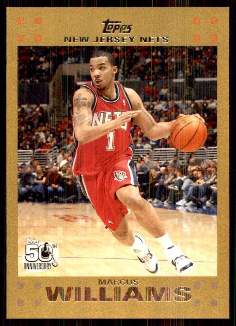 2007-08 Topps Gold Marcus Williams #105 card front image