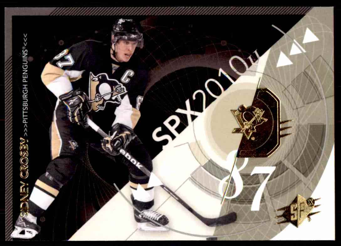 2010-11 Spx Sidney Crosby #81 card front image