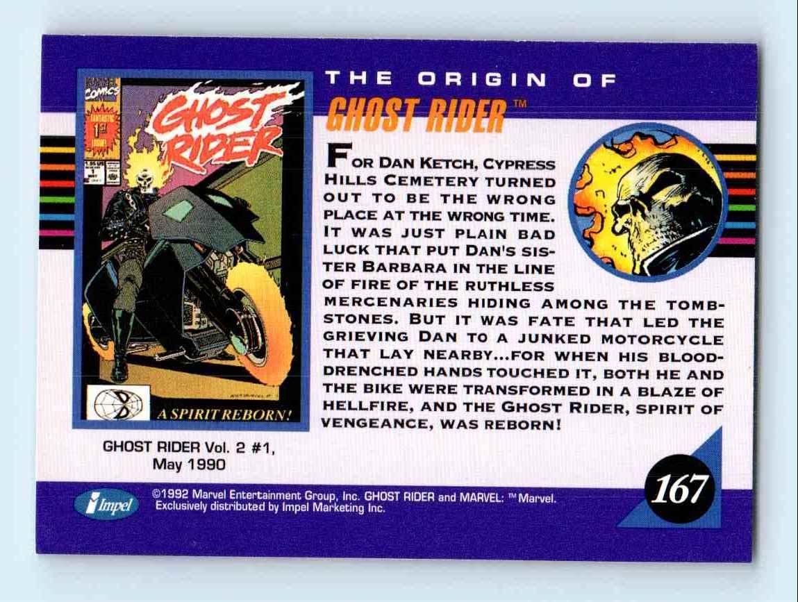 1993 Marvel Universe Series 3 Ghost Rider #167 on Kronozio