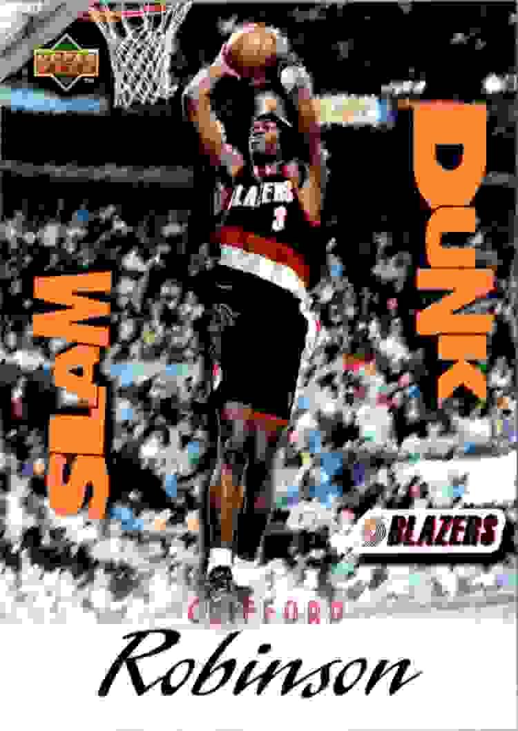 1997 98 Upper Deck Nestle Slam Dunk Clifford Robinson SD31 on