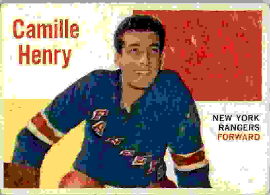 1960-61 Topps Camille Henry #53 card front image