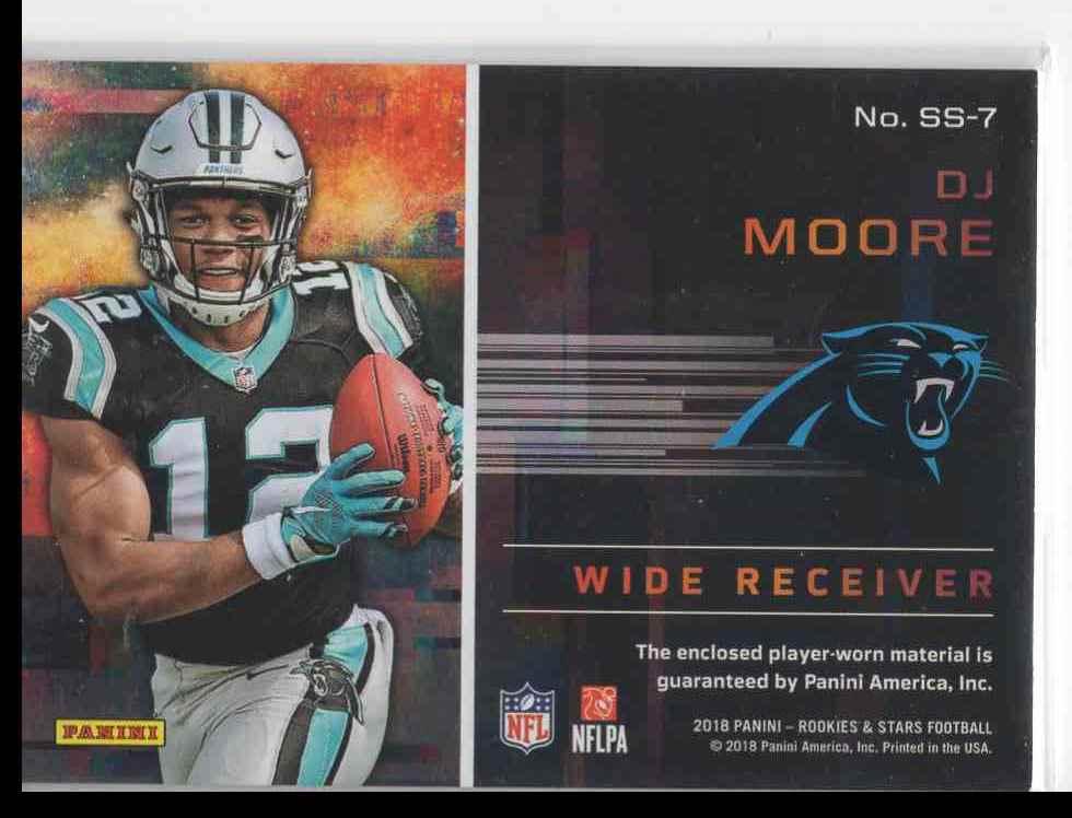 2018 Panini Rookies & Stars Dj Moore #SS-7 card back image
