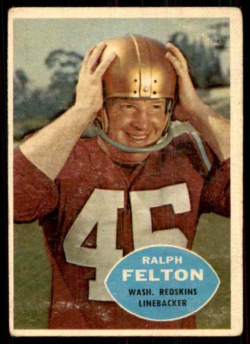 1960 Topps Ralph Felton RC #129 card front image