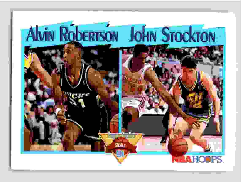 10 Alvin Robertson John Stockton trading cards for sale