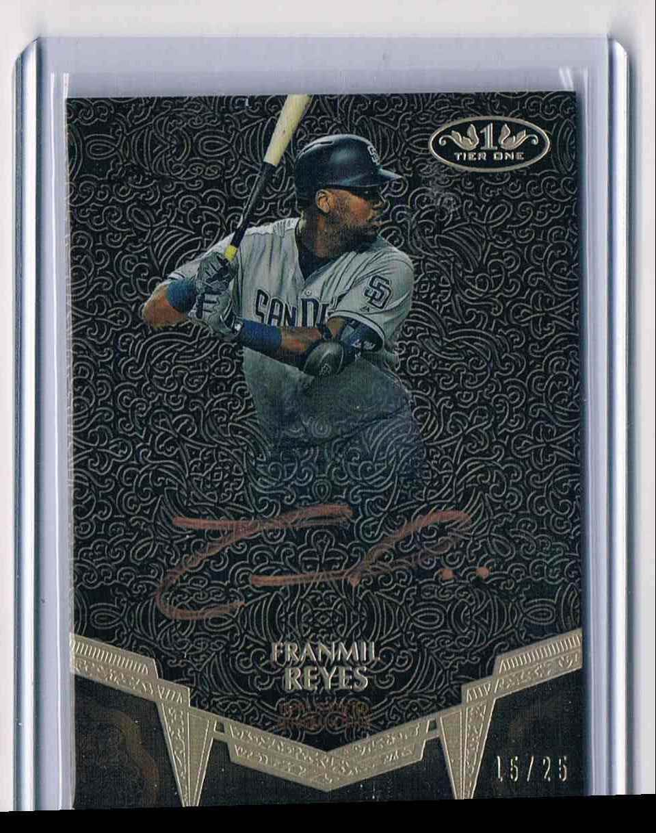 2019 Topps Tier One Bronze Ink Franmil Reyes card front image