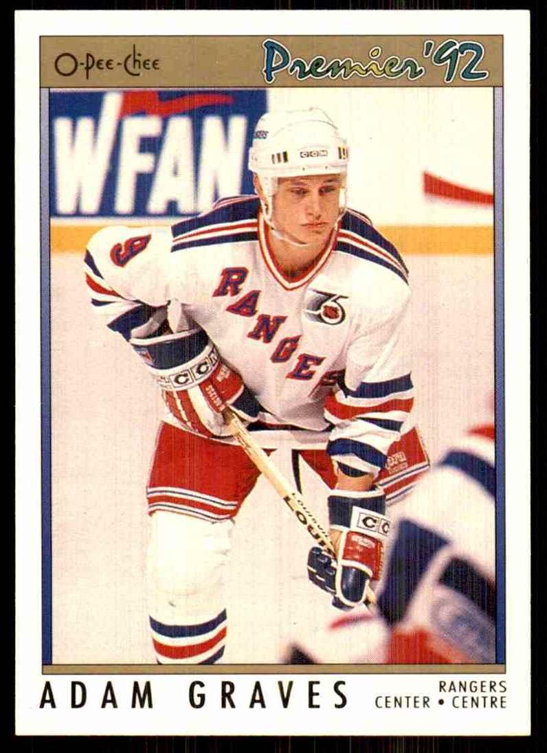 1991-92 OPC Premier Adam Graves #28 card front image