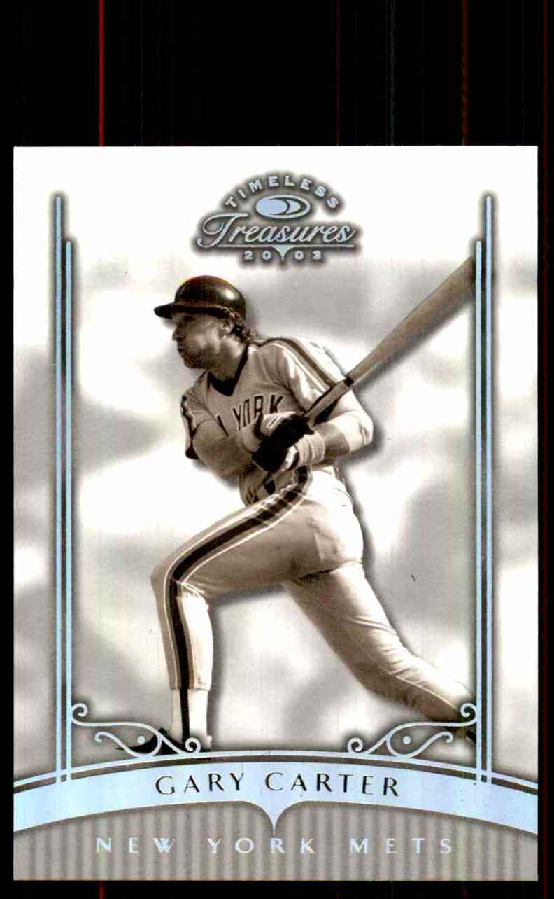 2003 Timeless Treasures Silver Gary Carter #29 card front image