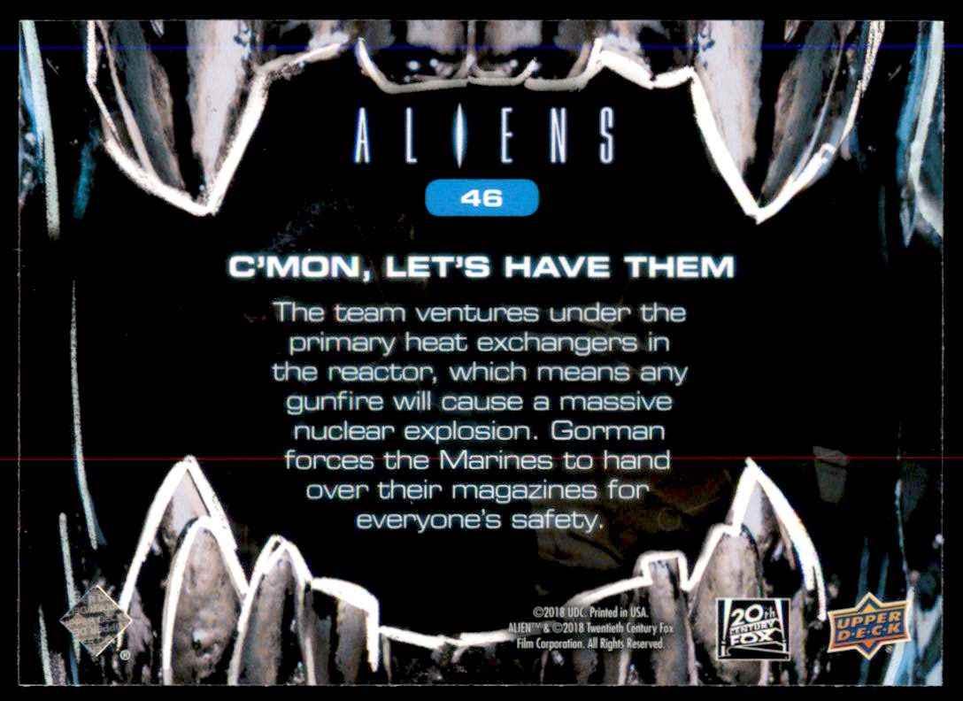 2018 Aliens C'mon Let's Have Them #46 card back image