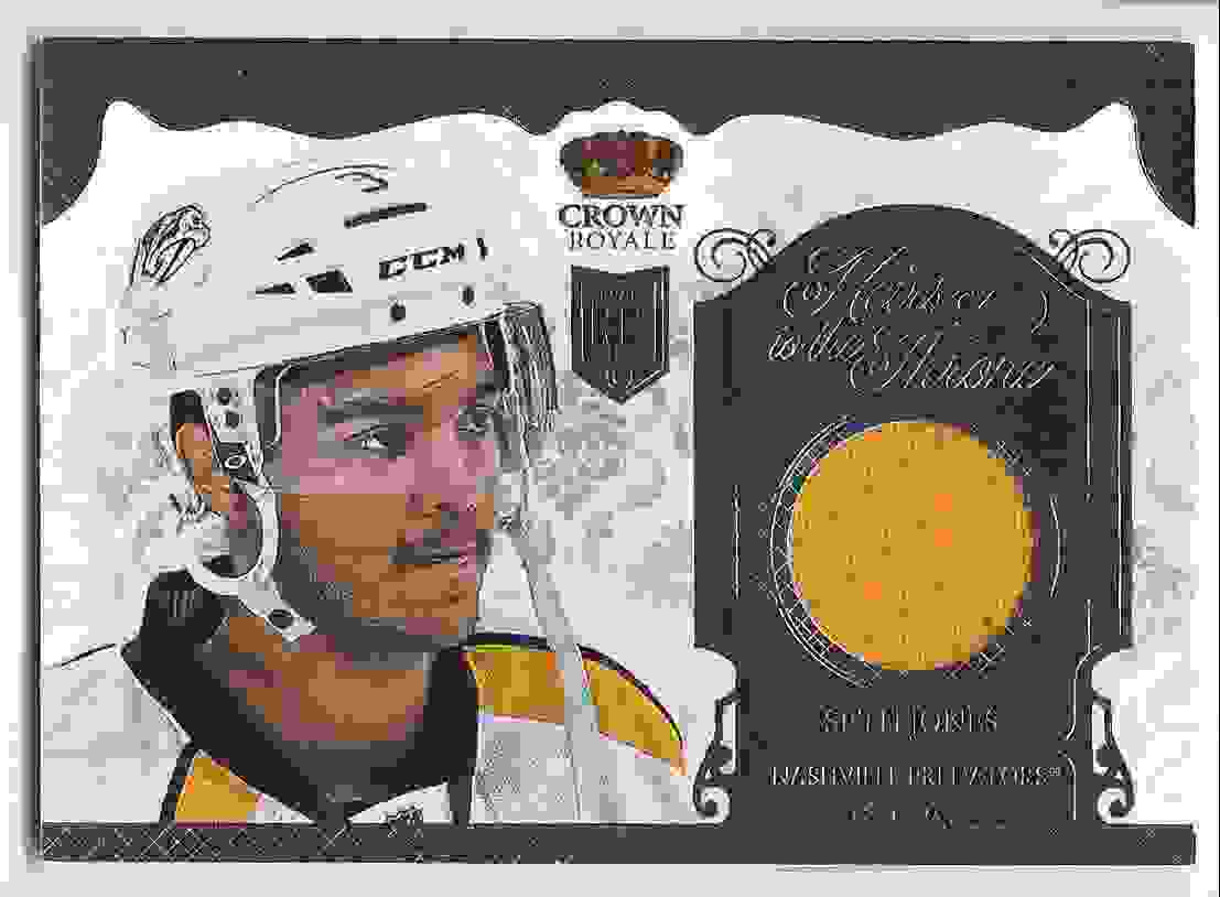 2013-14 Crown Royale Heirs To The Throne Materials Seth Jones #HT-SJ card front image