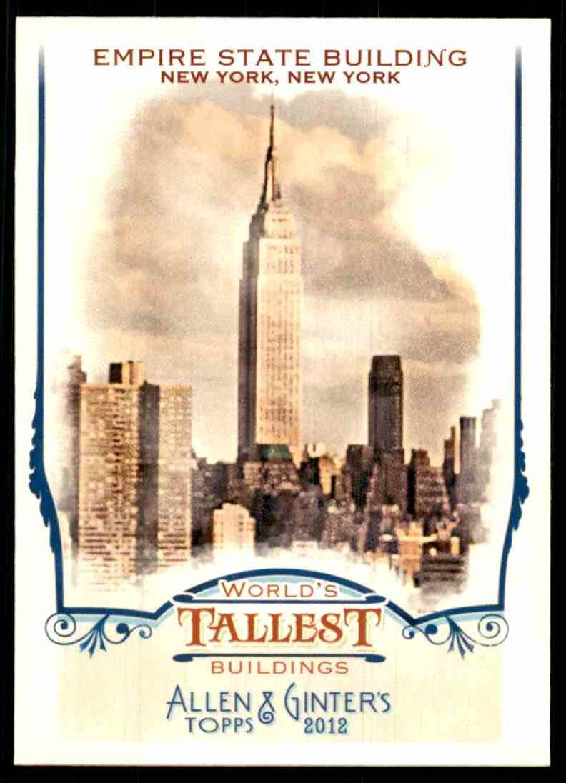 2012 Topps Allen And Ginter World's Tallest Buildings Empire State Building #WTB6 card front image