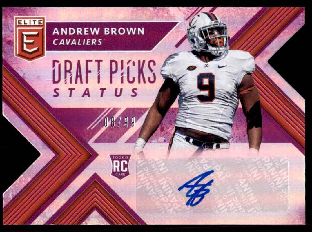new style 2c29b 6e229 2018 Donruss Elite Draft Picks Status Andrew Brown on Kronozio
