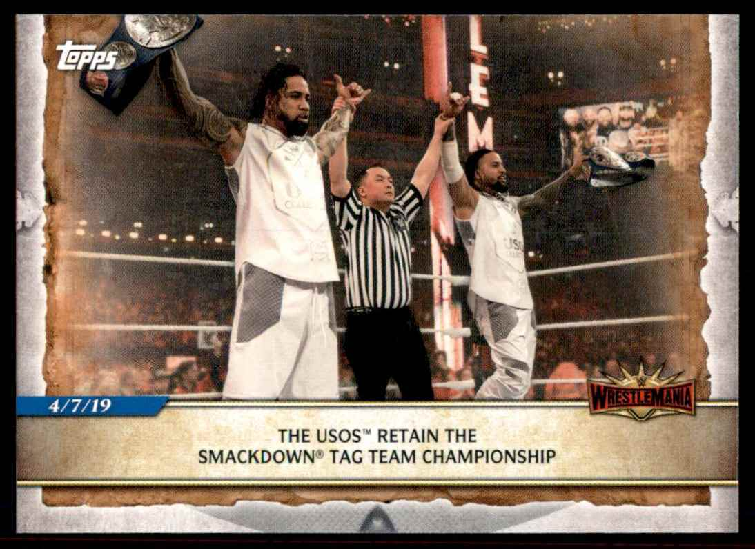 2020 Topps Wwe Road To WrestleMania The Usos #97 card front image