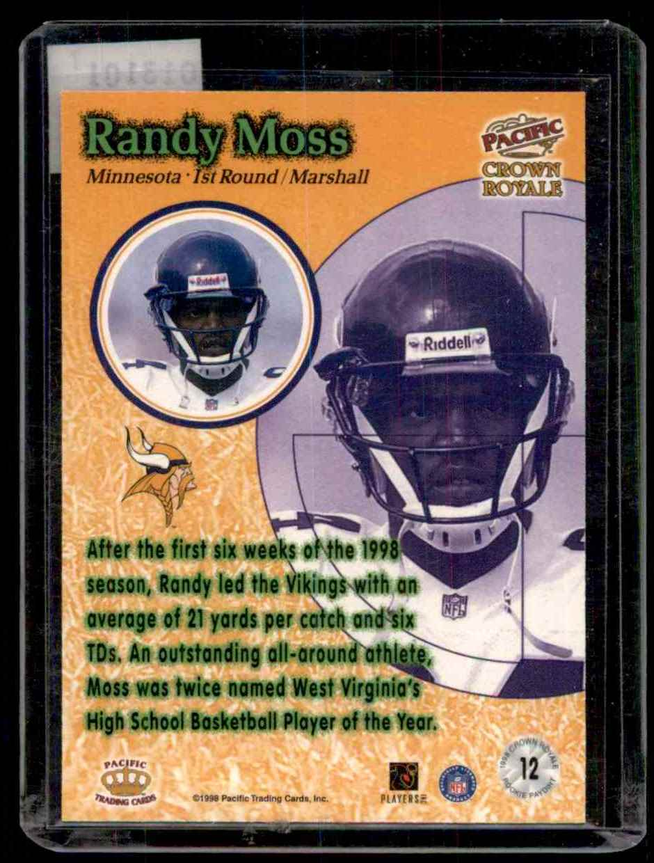 1998 Crown Royale Rookie Paydirt Randy Moss 12 On Kronozio