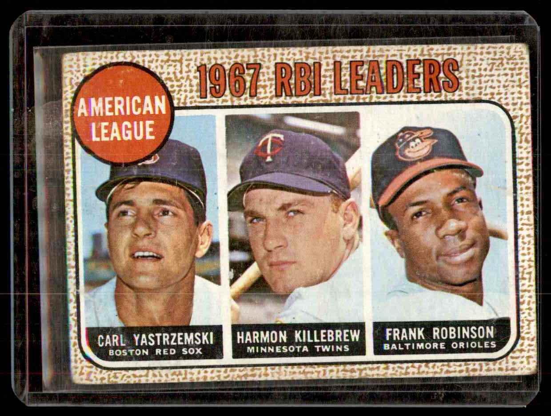 1968 Topps Carl Yastrzemski Harmon Killebrew Frank Robinson #4 card front image