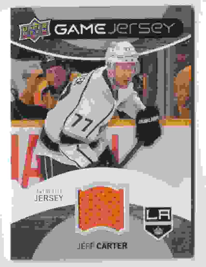 2012-13 Upper Deck Game Jersey Jeff Carter #GJ-JF card front image