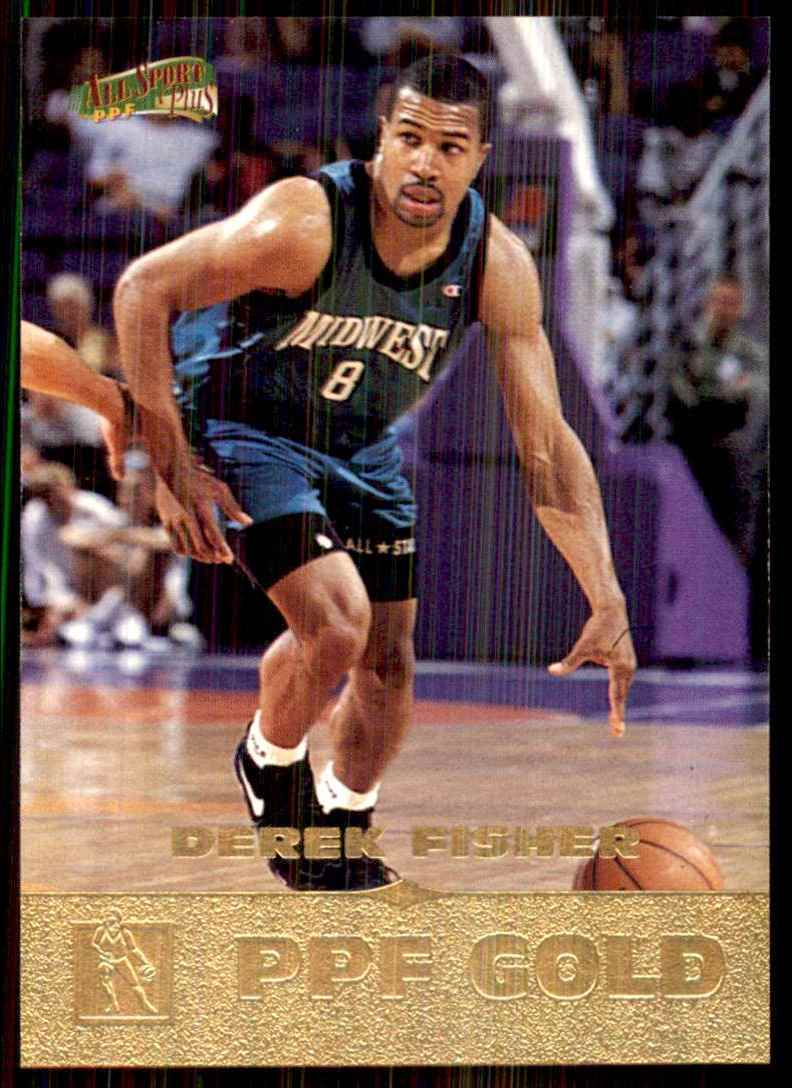 1996-97 Score Board All Sport Ppf Gold Derek Fisher #117 card front image