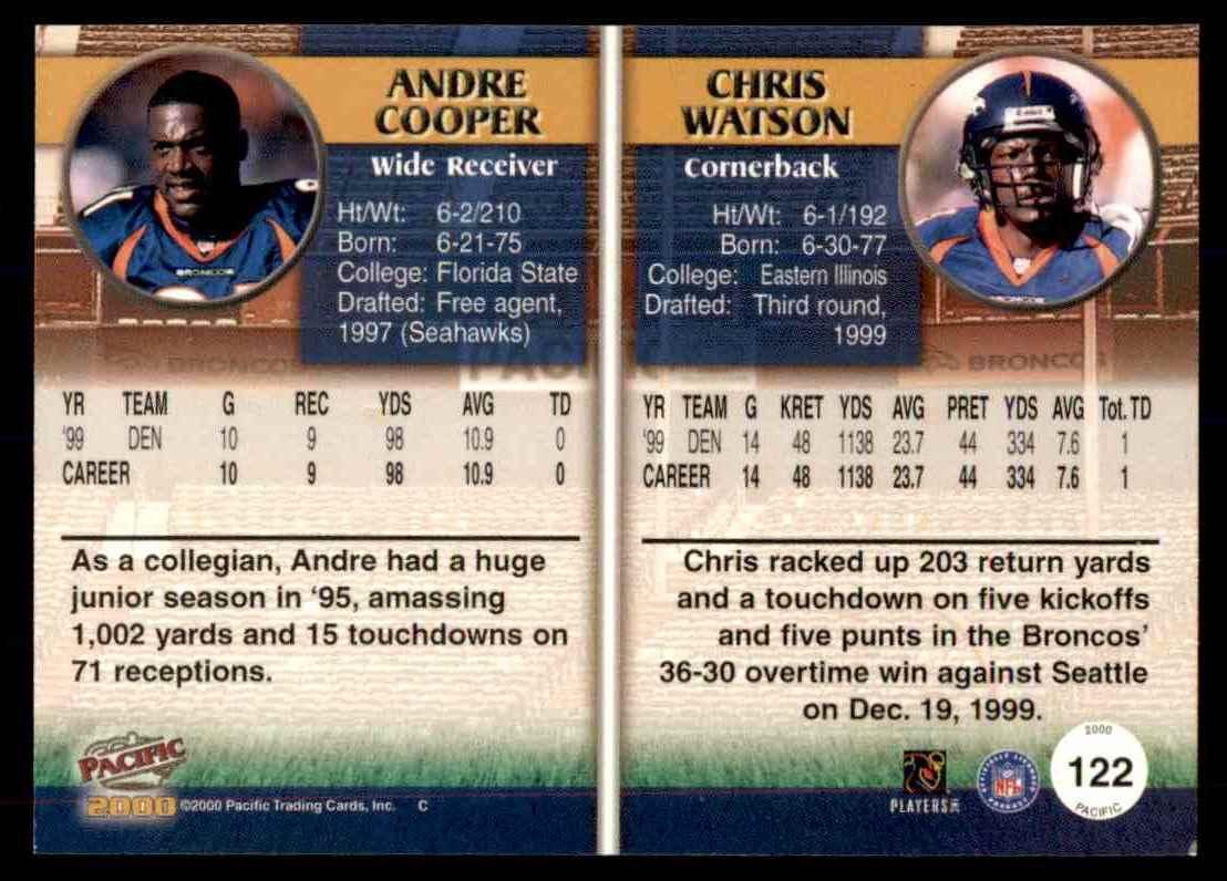 2000 Pacific Andre Cooper Chris Watson #122 on Kronozio