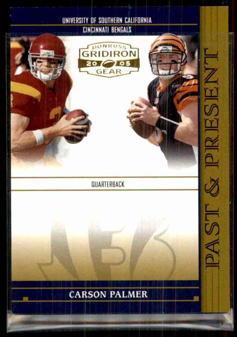 2005 Donruss Gridiron Gear Past & Present Gold Carson Palmer #3 card front image