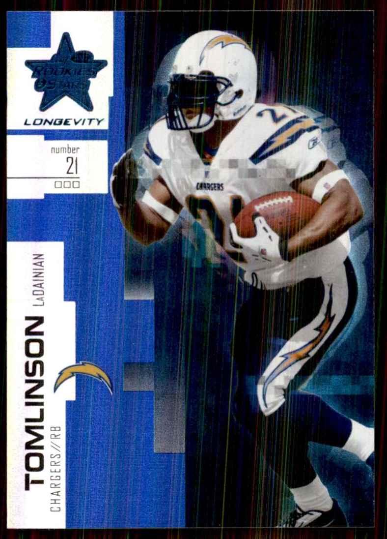 2007 Leaf Rookies & Stars Longevity Sapphire LaDainian Tomlinson #99 card front image