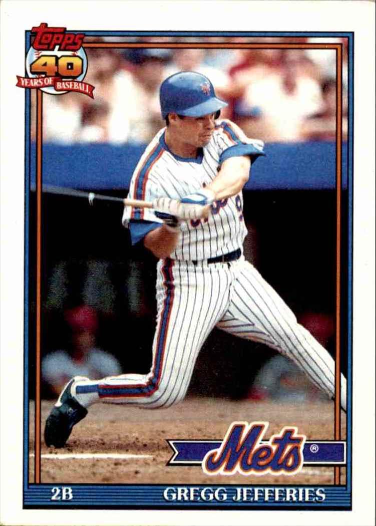 1991 Topps 40 Years Of Baseball Gregg Jefferies 30 On Kronozio