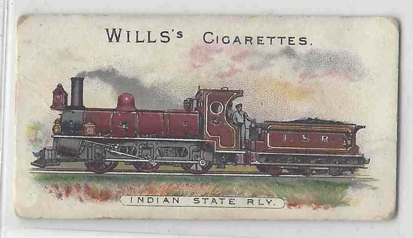 1901 Will's Locomotives & Rolling Stock Indian State Rly #NON card front image