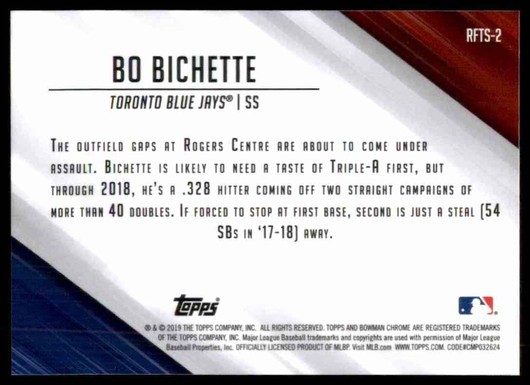 2019 Bowman Chrome Ready For The Show Bo Bichette #2 card back image