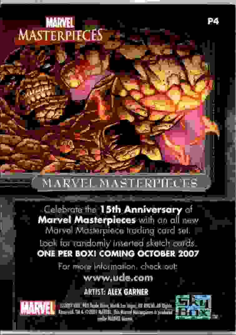 2007 Upper Deck Marvel Masterpieces Promo Card Wolverine (San Diego Comic Con) #P4 card back image