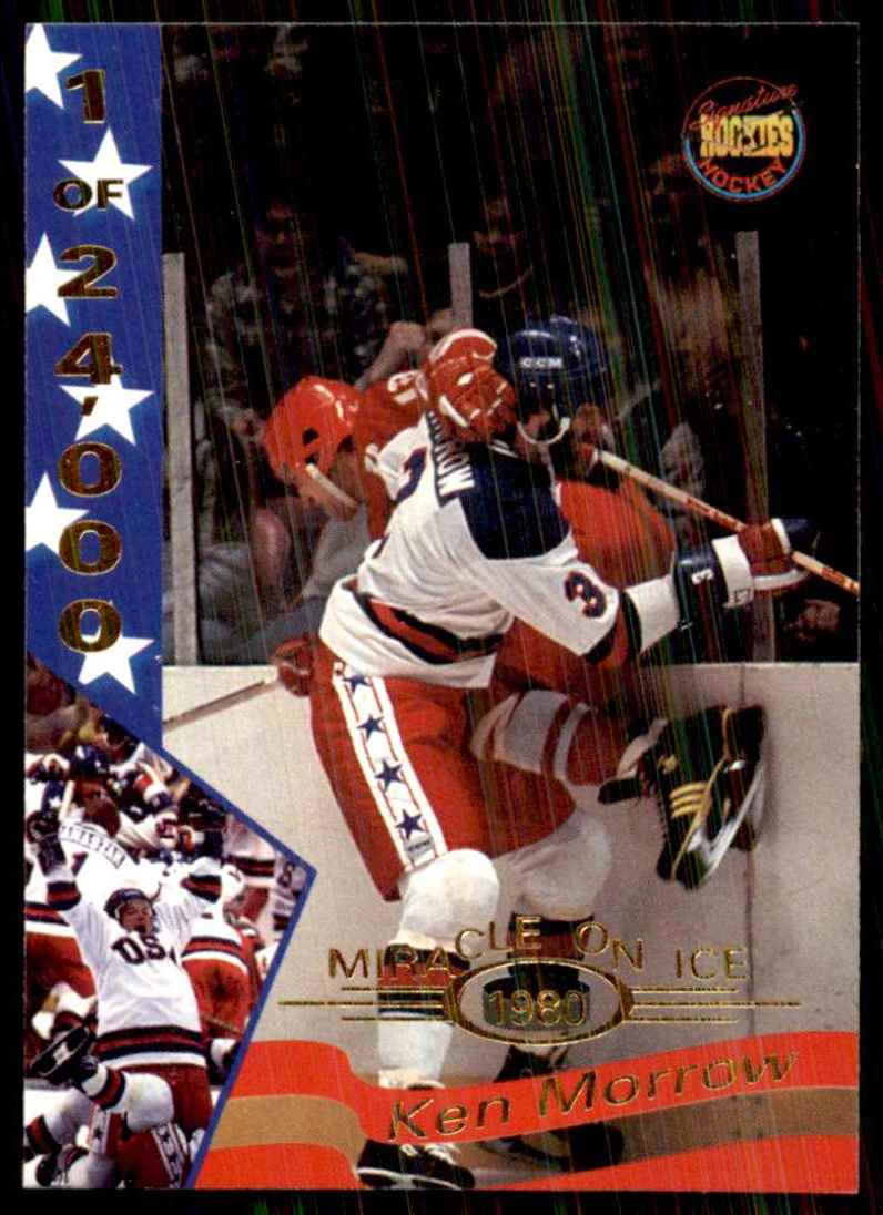 1995-96 Signature Rookies Miracle On Ice Ken Morrow #21 card front image