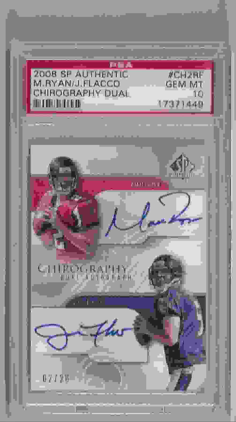 2008 SP Authentic Chirography Dual Matt Ryan/Joe Flacco #CH2-RF card front image
