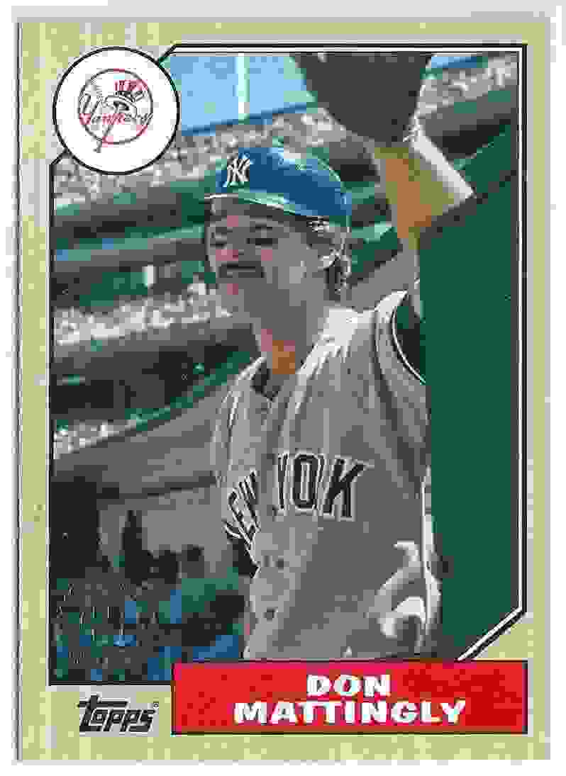 2017 Topps 1987 Topps 30th Anniversary Don Mattingly 87