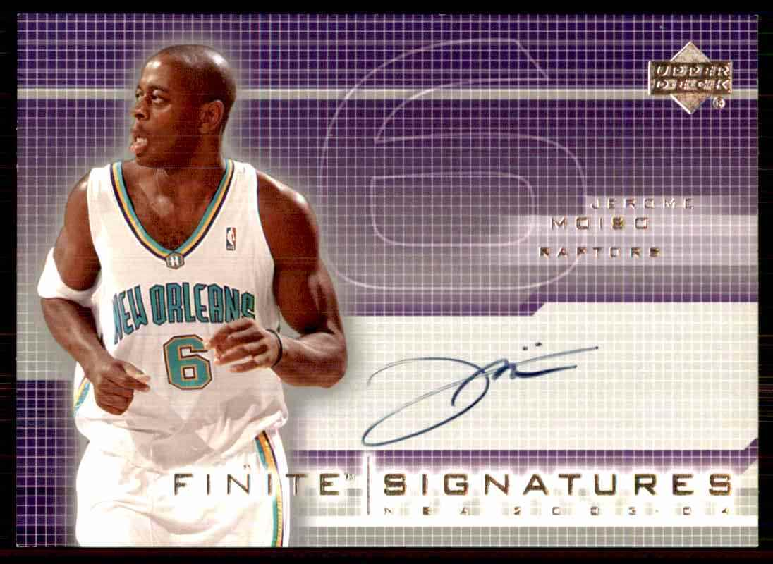 2003-04 Upper Deck Finite Signatures Jerome Moiso #JM card front image