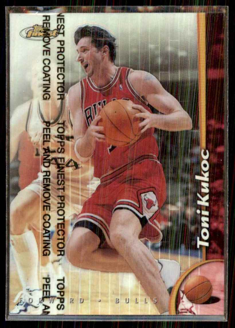 1998-99 Finest Refractors Toni Kukoc #68 card front image