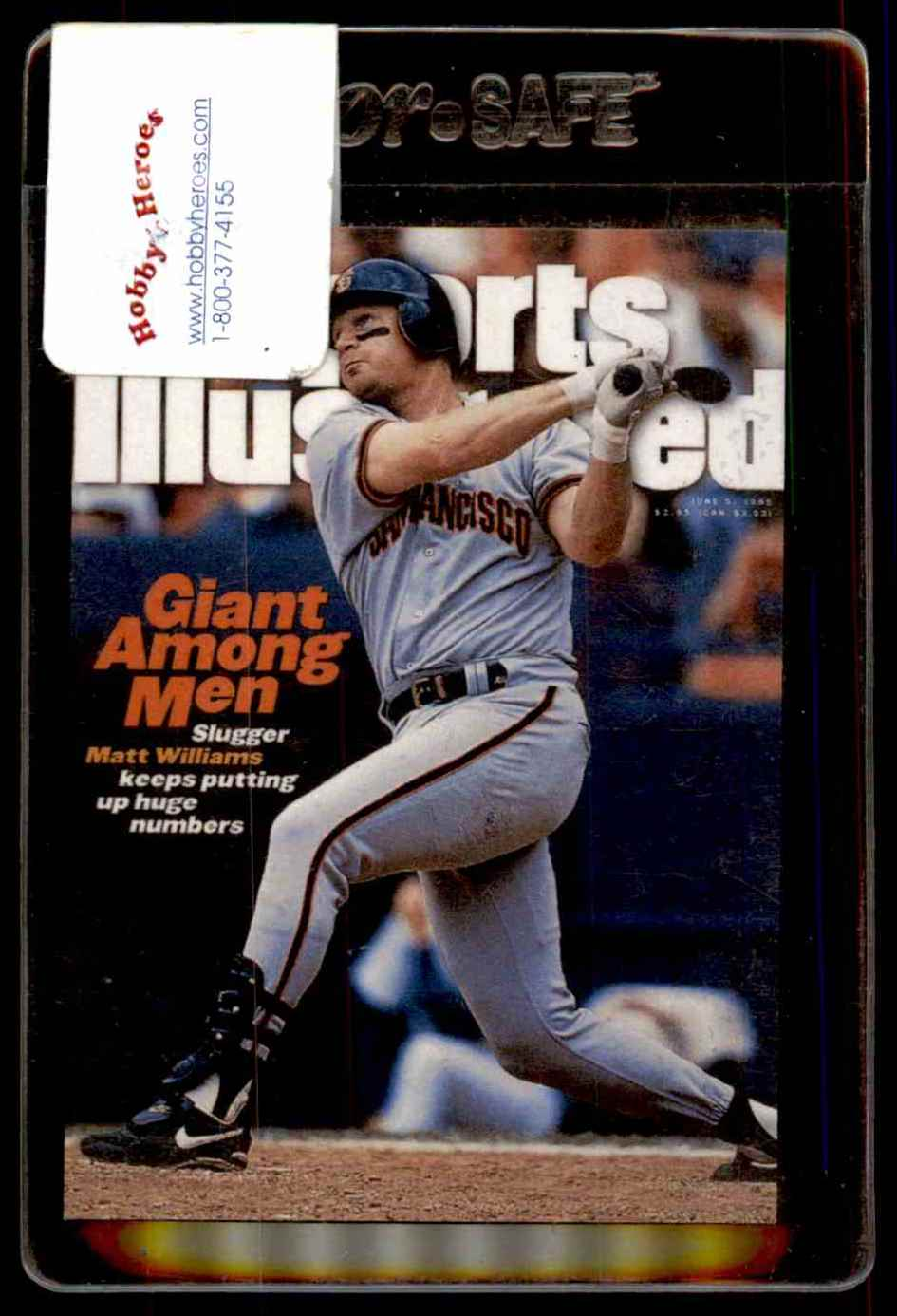 1998 Fleer Sports Illustrated Covers Matt Williams C7 On Kronozio